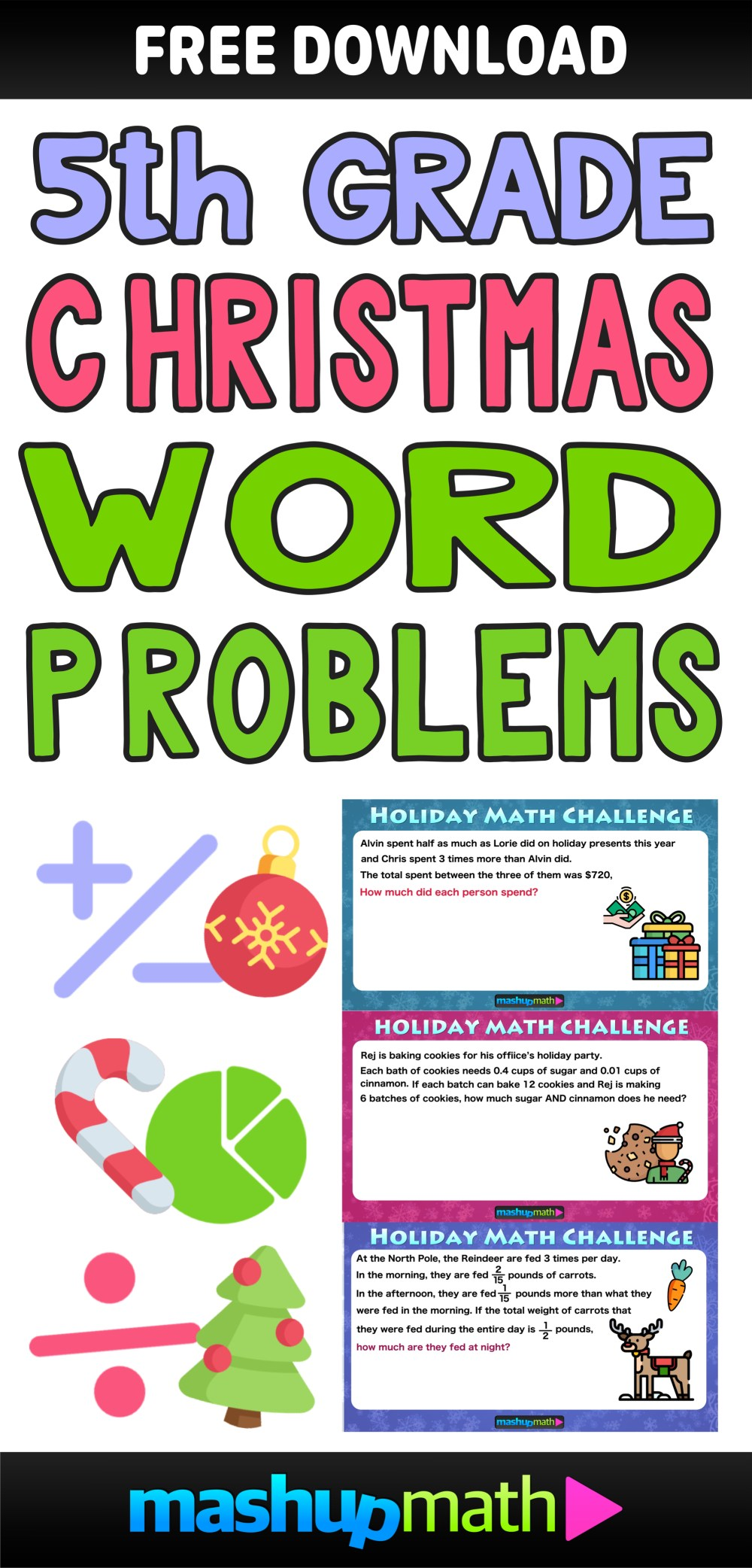 medium resolution of The Best Math Christmas Word Problems for 5th grade — Mashup Math