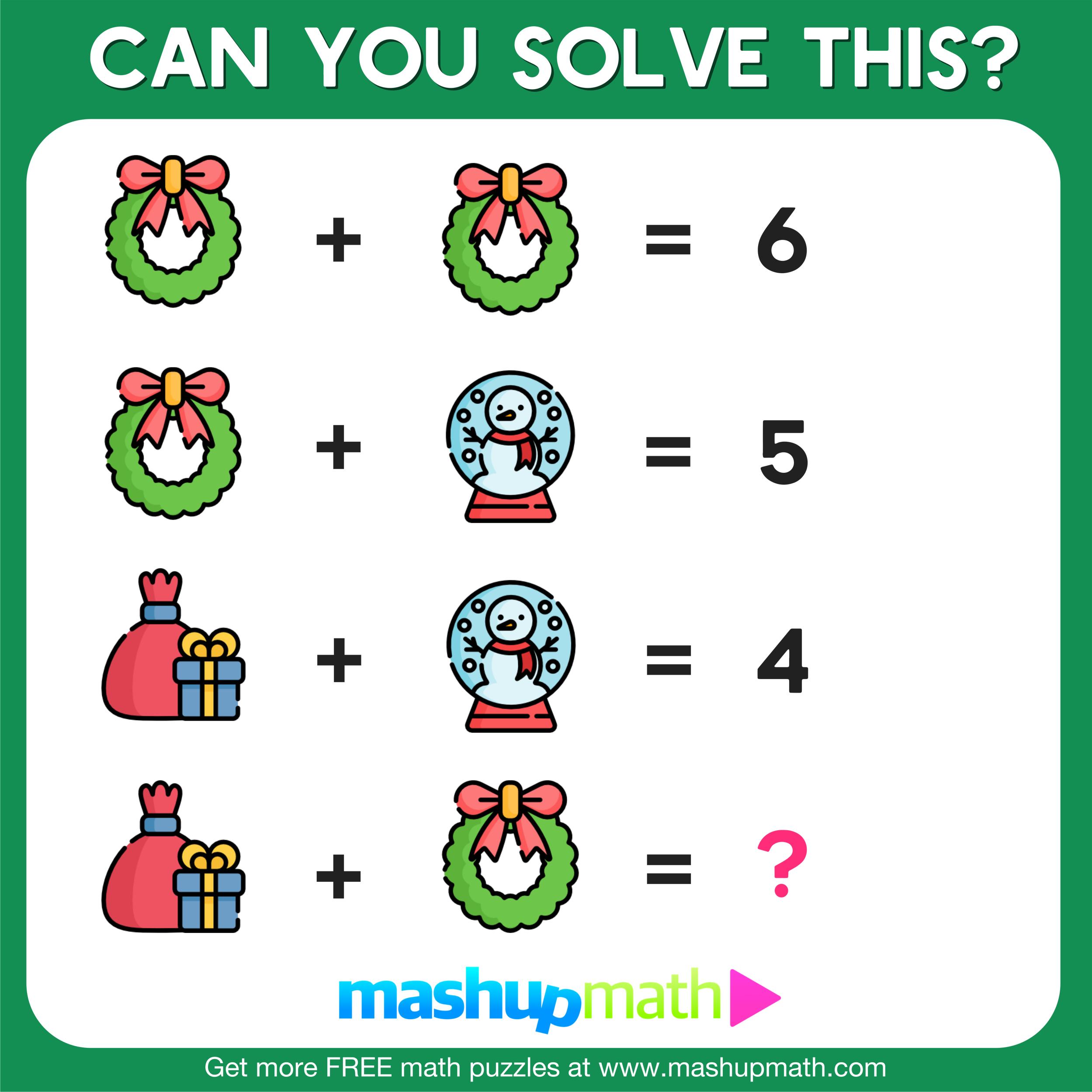 medium resolution of holiday math worksheets — Blog — Mashup Math