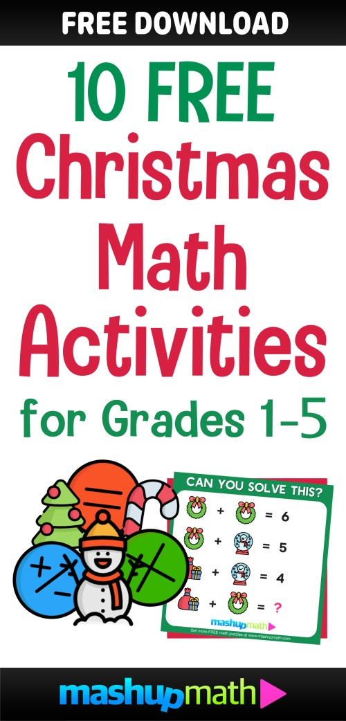small resolution of 10 Free Christmas Math Activities for Your Kids — Mashup Math