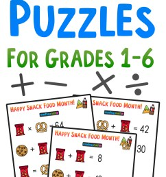 Free Math Brain Teaser Puzzles for Kids in Grades 1-6 to Celebrate Snack  Food Month! — Mashup Math [ 2084 x 1000 Pixel ]