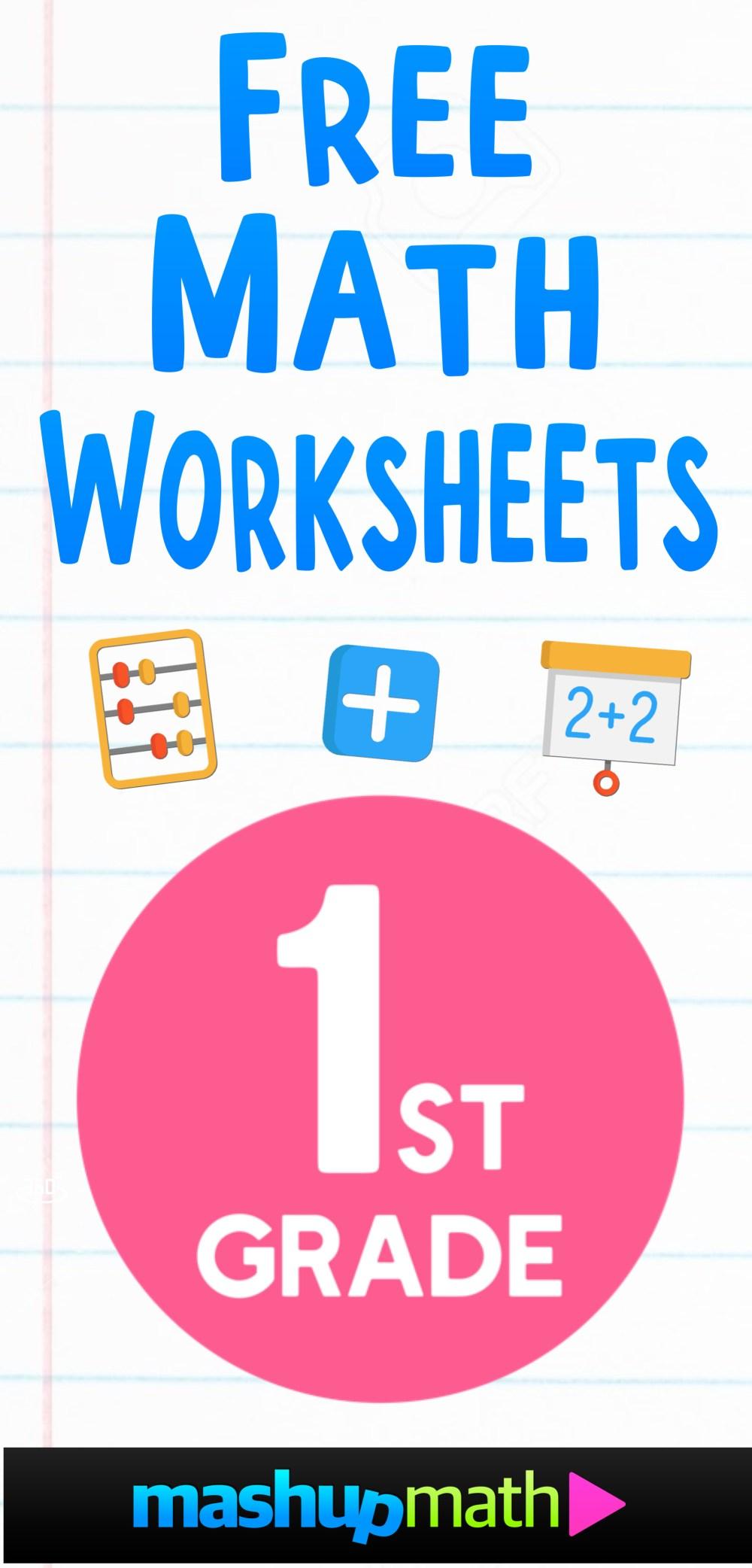 medium resolution of Free 1st Grade Math Worksheets — Mashup Math