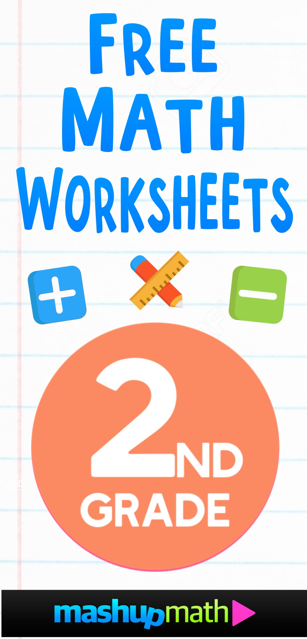 medium resolution of Free 2nd Grade Math Worksheets — Mashup Math