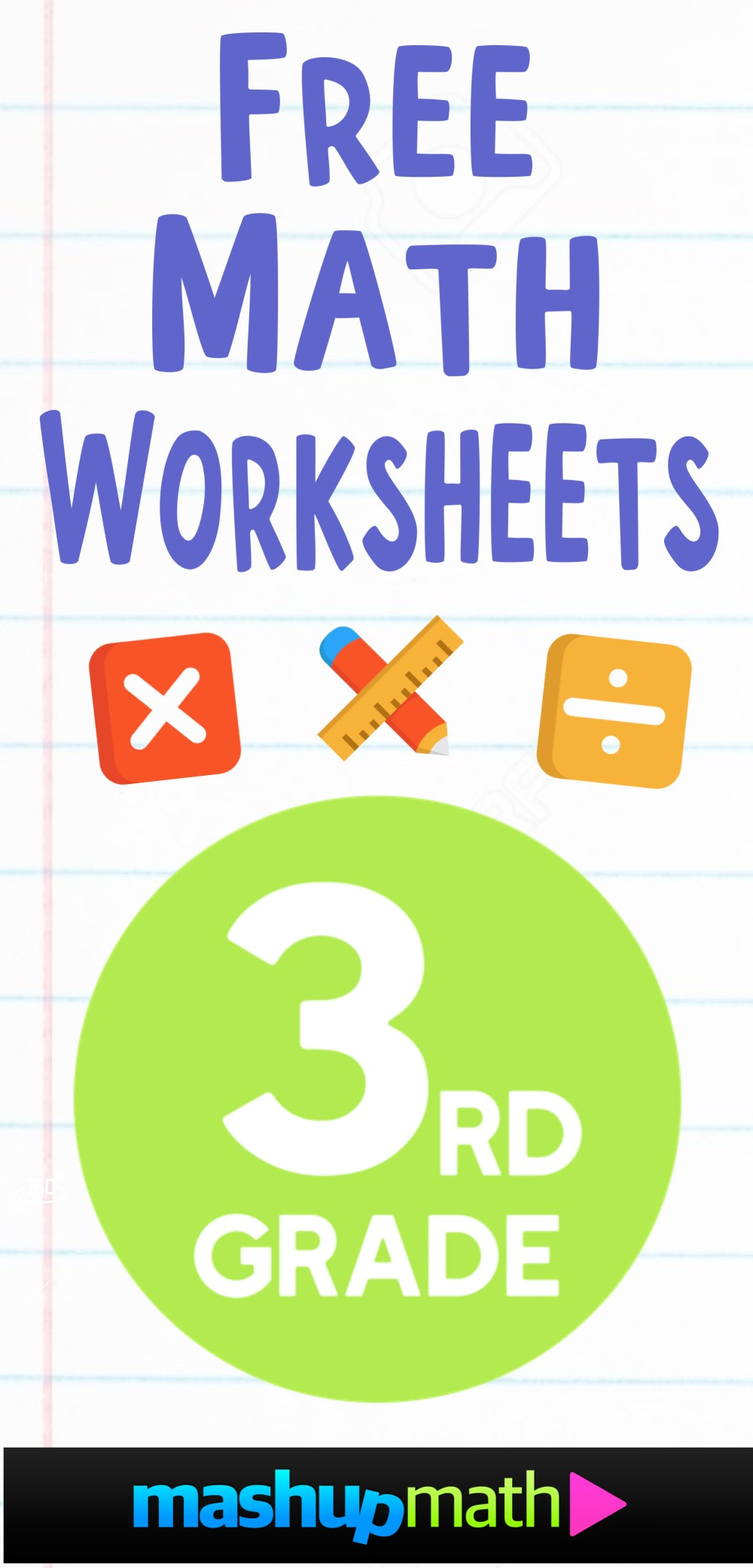 medium resolution of Free 3rd Grade Math Worksheets — Mashup Math