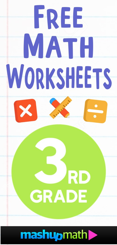 small resolution of Free 3rd Grade Math Worksheets — Mashup Math