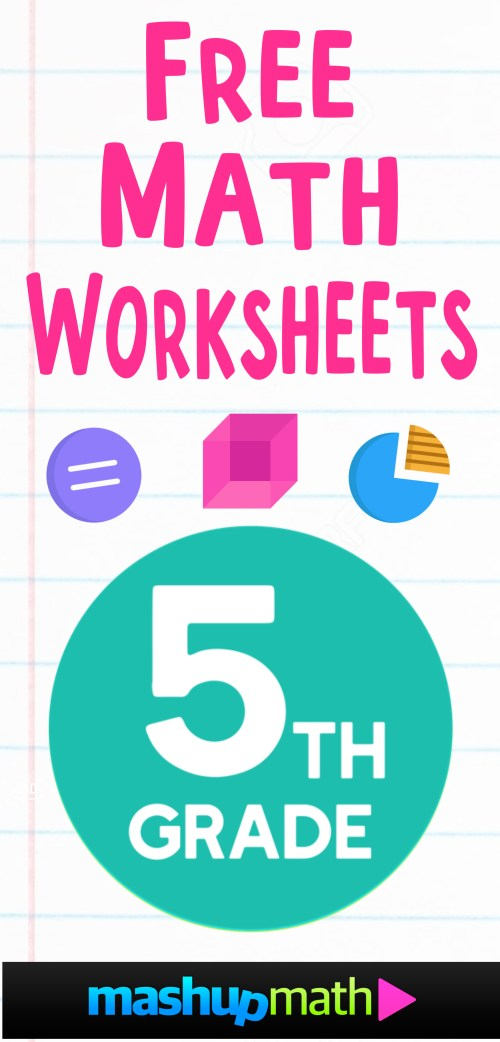 small resolution of Free 5th Grade Math Worksheets — Mashup Math