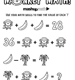 Free Math Coloring Worksheets for 5th and 6th Grade — Mashup Math [ 1281 x 1000 Pixel ]