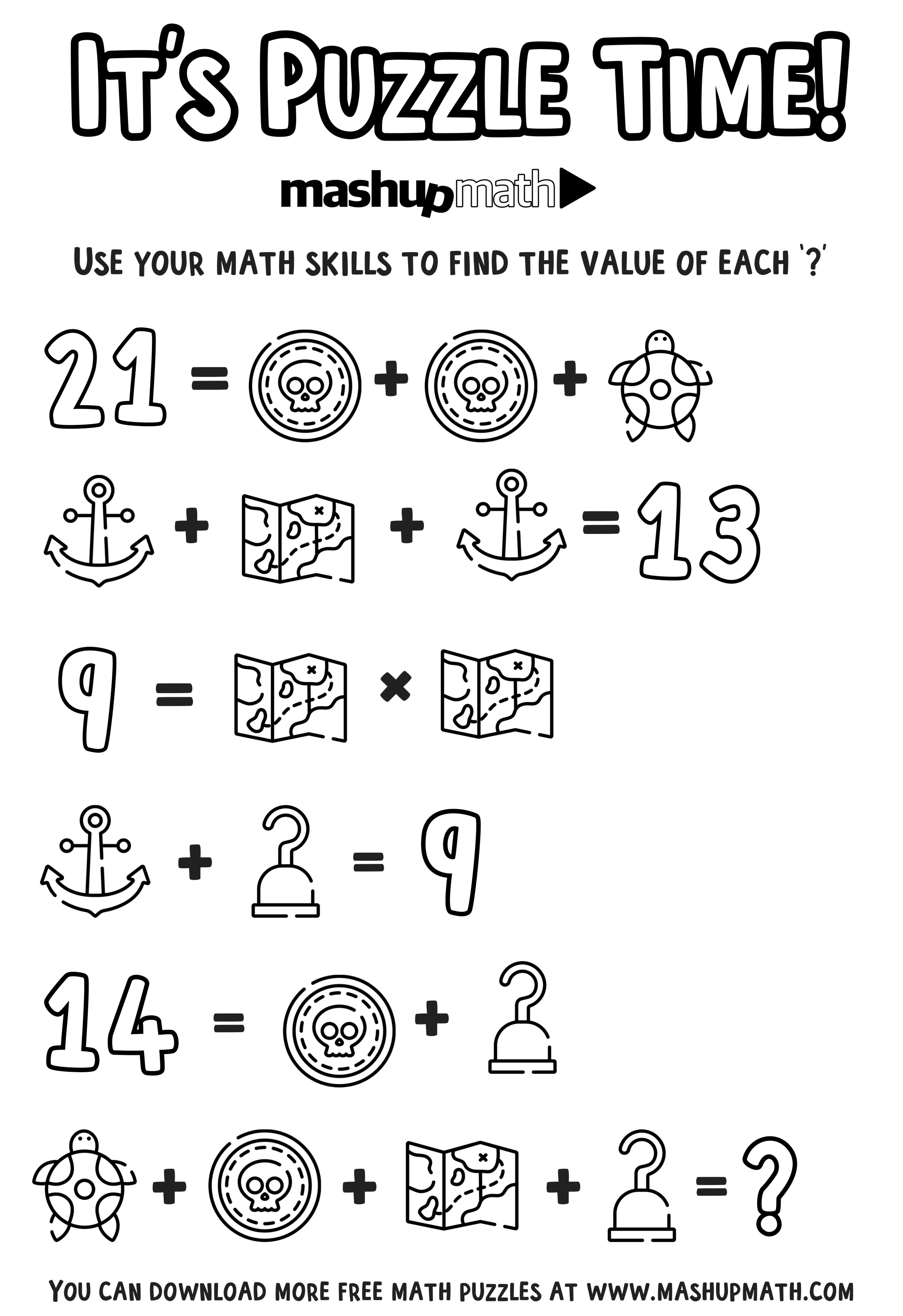 Free Math Coloring Worksheets for 5th and 6th Grade
