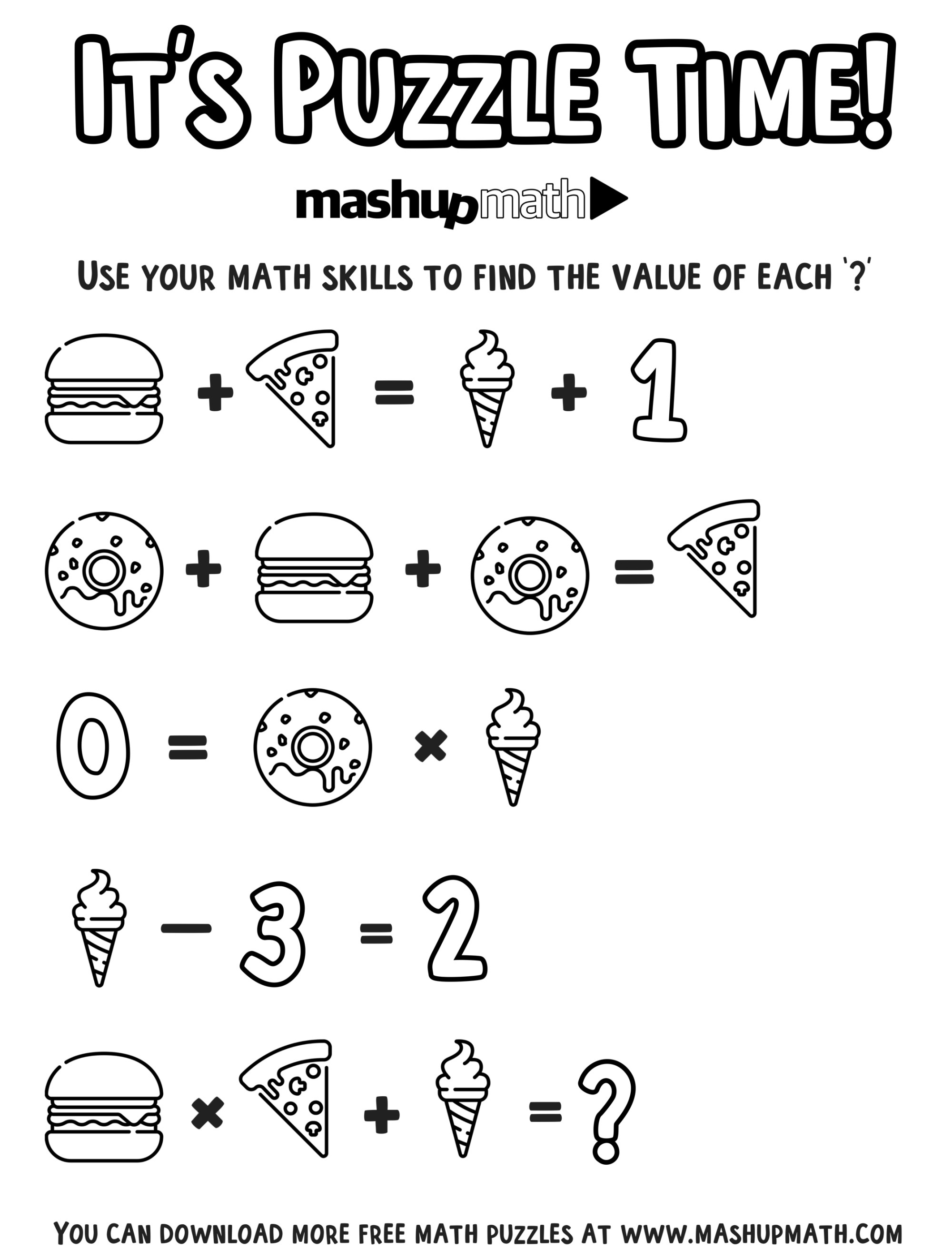 hight resolution of Free Math Coloring Worksheets for 5th and 6th Grade — Mashup Math