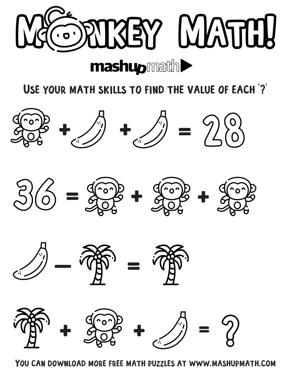 medium resolution of Free Math Coloring Worksheets for Grades 1-8 — Mashup Math