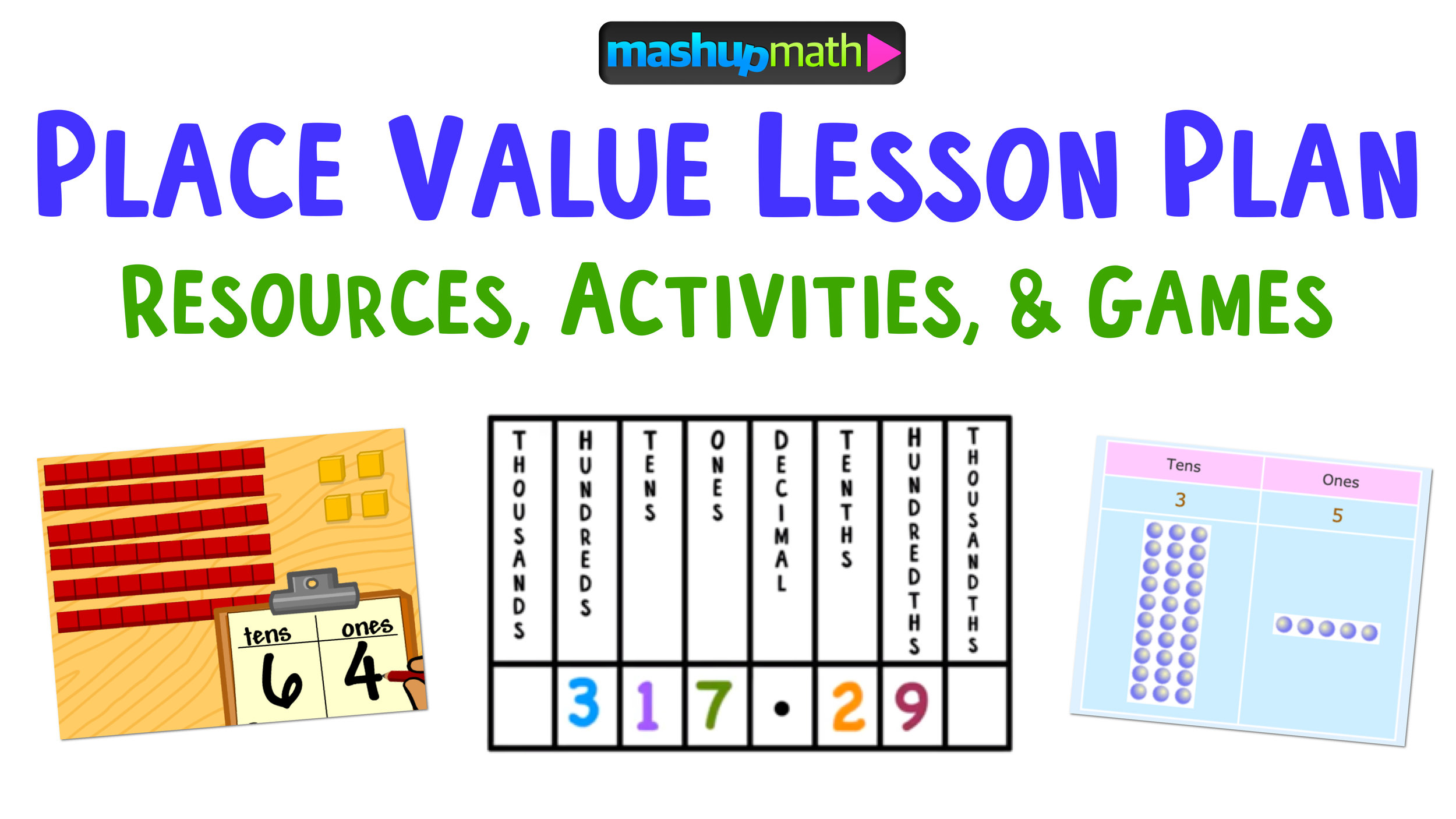 Place Value Lesson Plan Resources: The Best of The Best — Mashup Math [ 844 x 1500 Pixel ]
