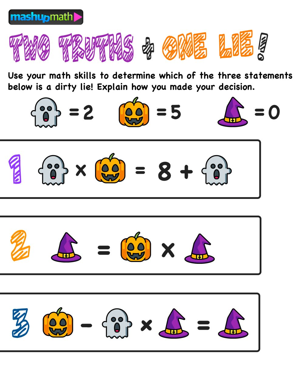 medium resolution of Are Your Kids Ready for These Halloween Math Activities? — Mashup Math