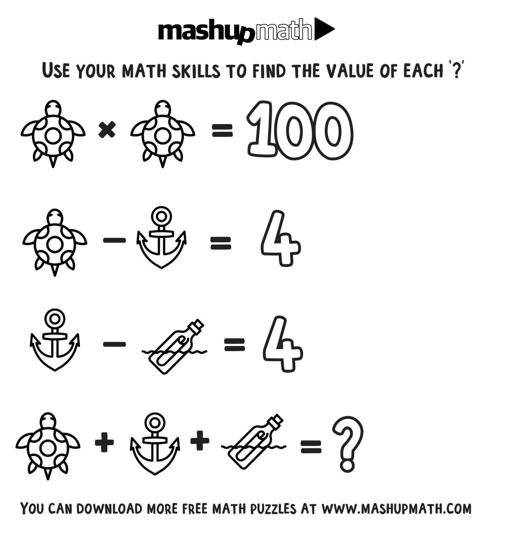 medium resolution of Free Math Coloring Worksheets for 3rd and 4th Grade — Mashup Math