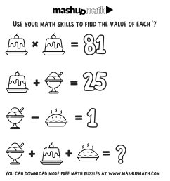 Free Math Coloring Worksheets for 3rd and 4th Grade — Mashup Math [ 1047 x 1000 Pixel ]