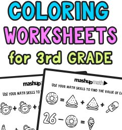 Free Math Coloring Worksheets for 3rd and 4th Grade — Mashup Math [ 2084 x 1000 Pixel ]