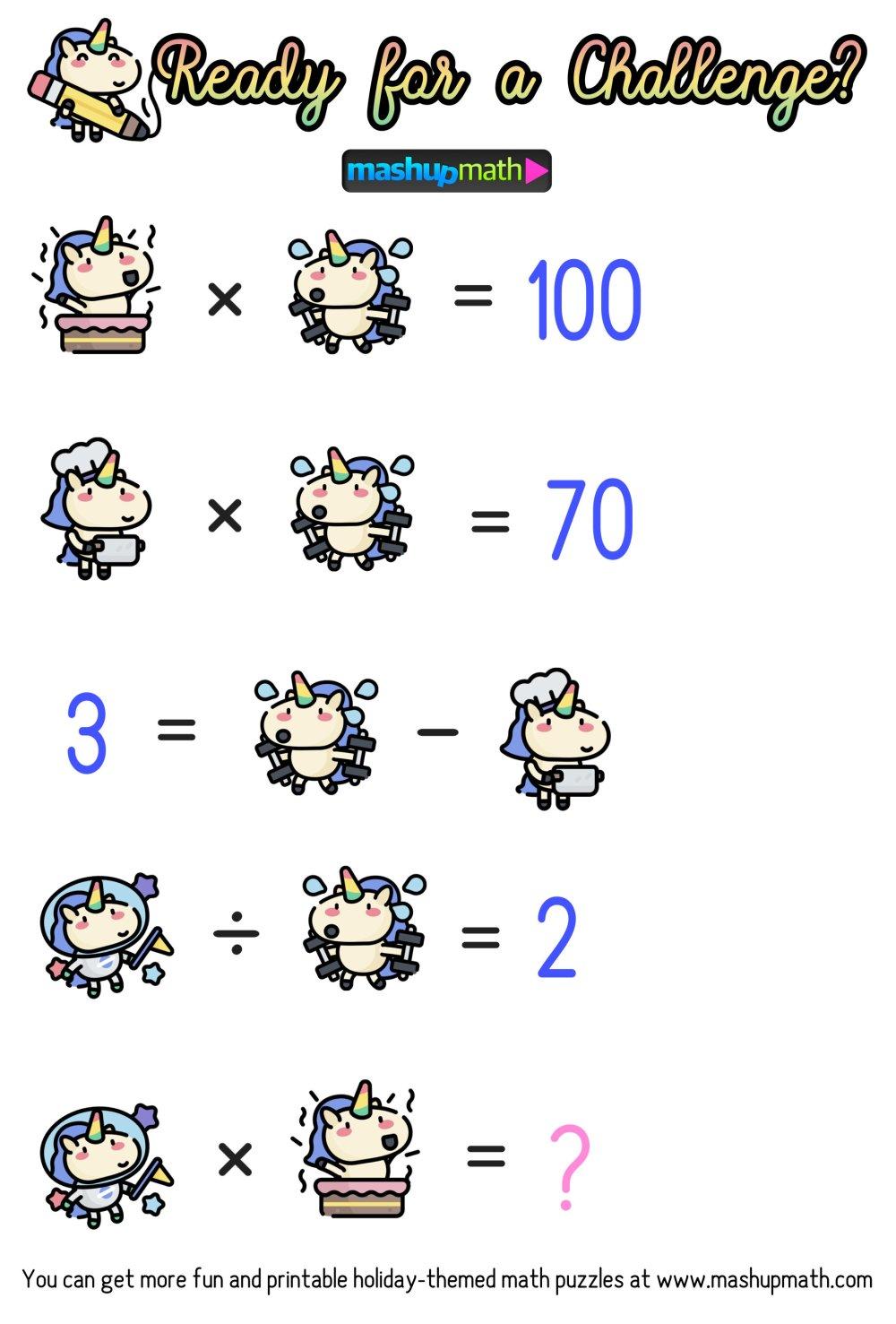 medium resolution of unicorn — Blog — Mashup Math