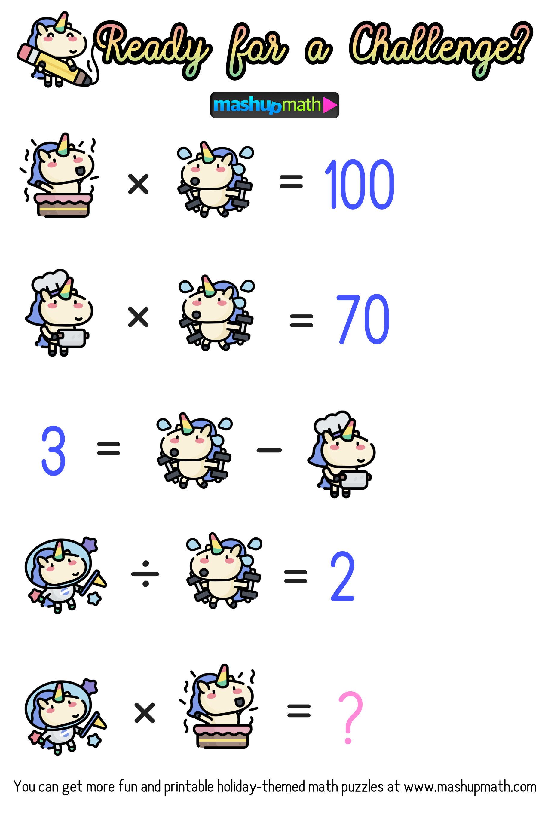 hight resolution of unicorn — Blog — Mashup Math