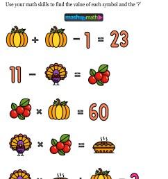 12 Thanksgiving Math Activities for Grades 1-8 — Mashup Math [ 1352 x 1000 Pixel ]