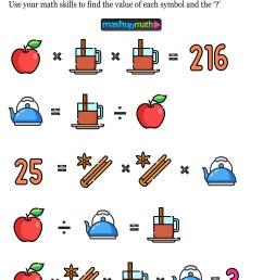 12 Thanksgiving Math Activities for Grades 1-8 — Mashup Math [ 1371 x 1000 Pixel ]
