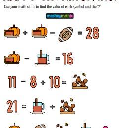12 Thanksgiving Math Activities for Grades 1-8 — Mashup Math [ 1291 x 1000 Pixel ]