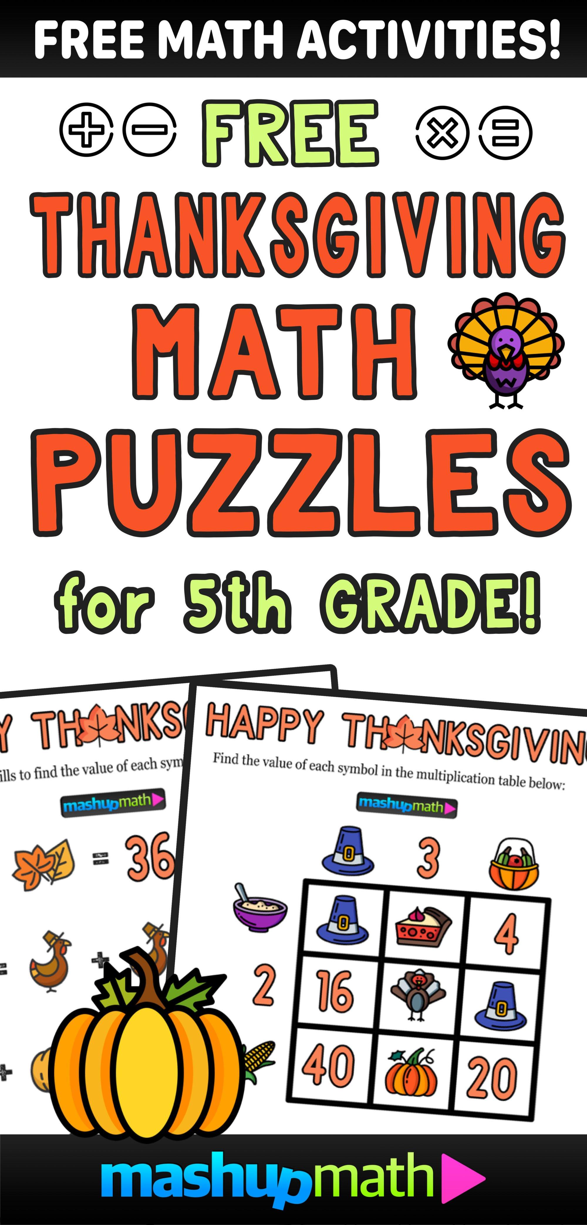 hight resolution of 12 Thanksgiving Math Activities for Grades 1-8 — Mashup Math