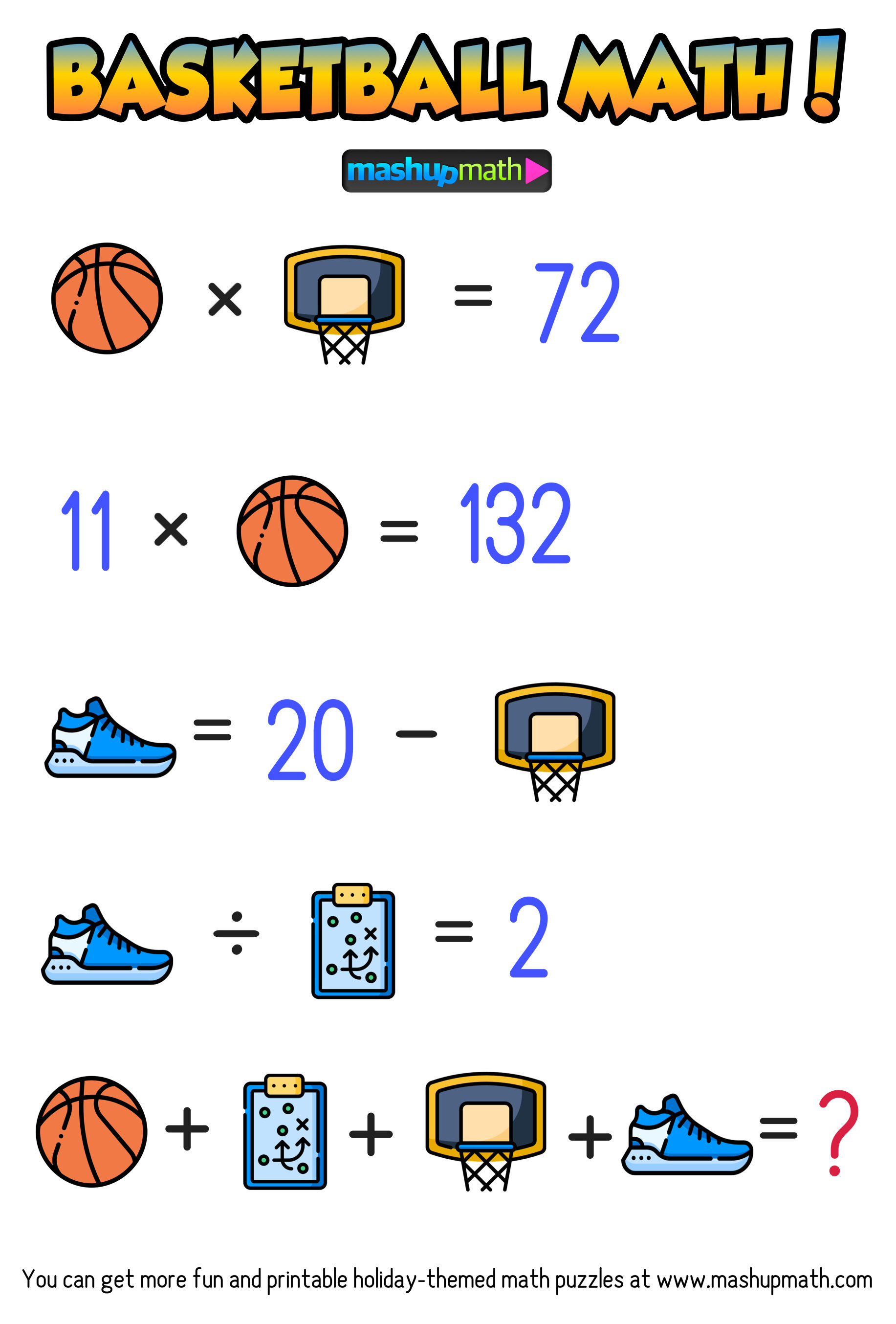 hight resolution of Are Your Kids Ready for These Basketball Math Puzzles? — Mashup Math