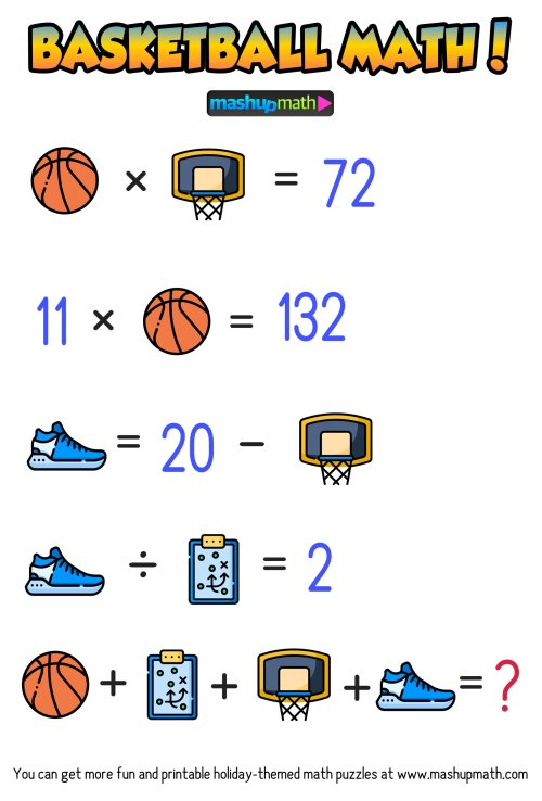 small resolution of Are Your Kids Ready for These Basketball Math Puzzles? — Mashup Math