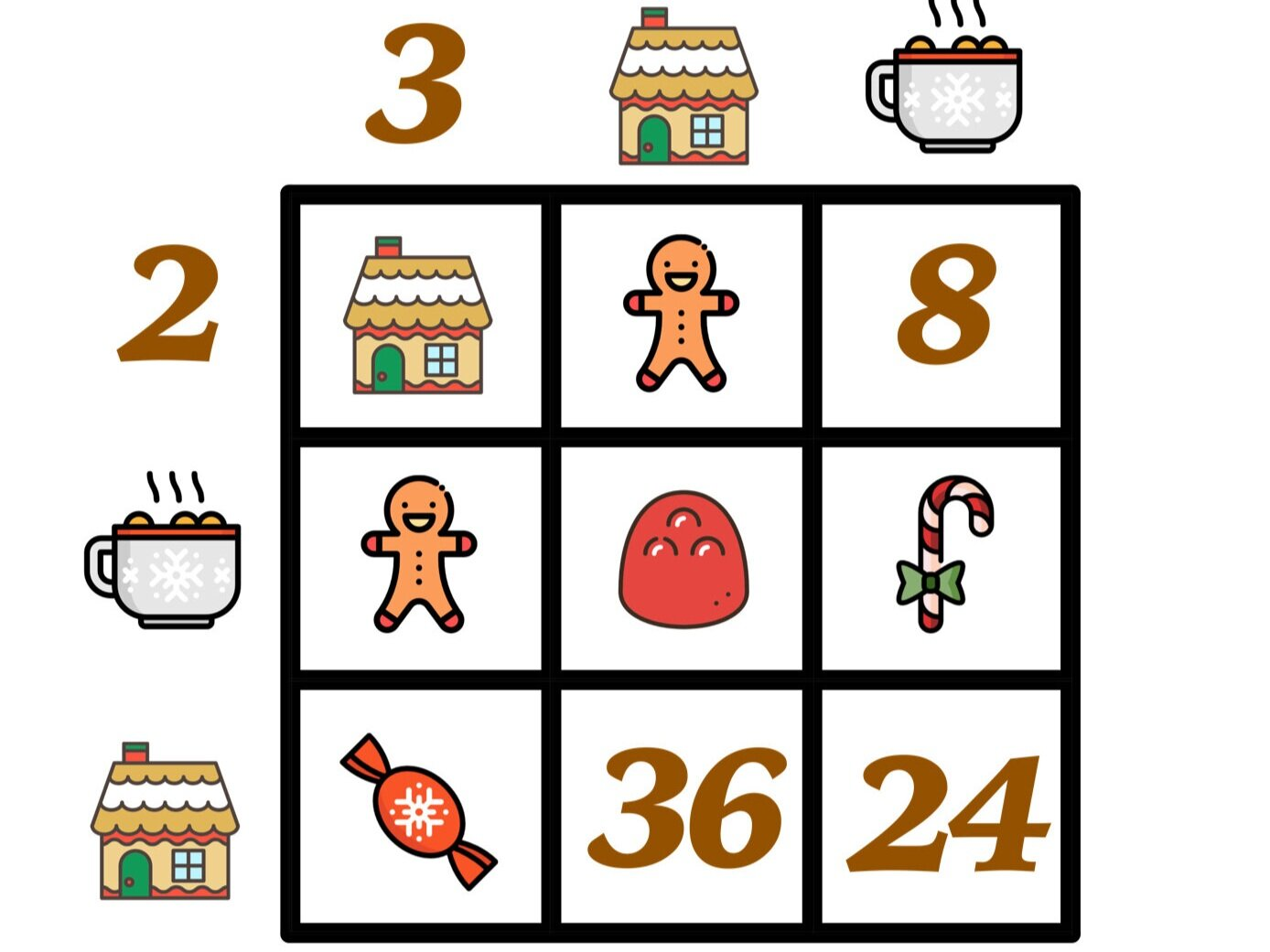 medium resolution of Are Your Students Ready for These Gingerbread House Day Math Puzzles? —  Mashup Math