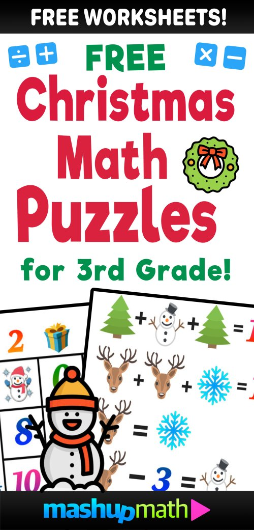 small resolution of Christmas math worksheets — Blog — Mashup Math