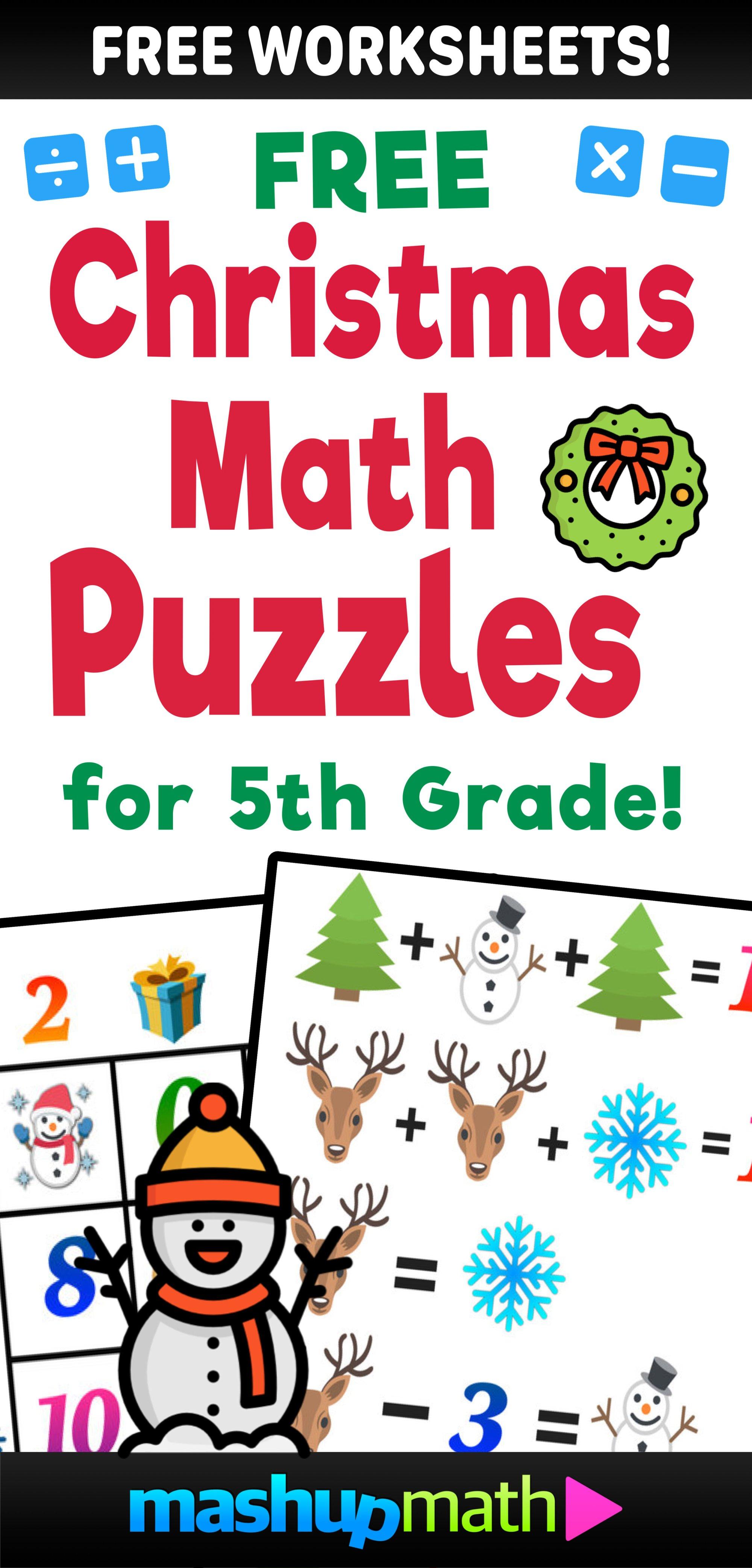 hight resolution of Christmas math worksheets — Blog — Mashup Math