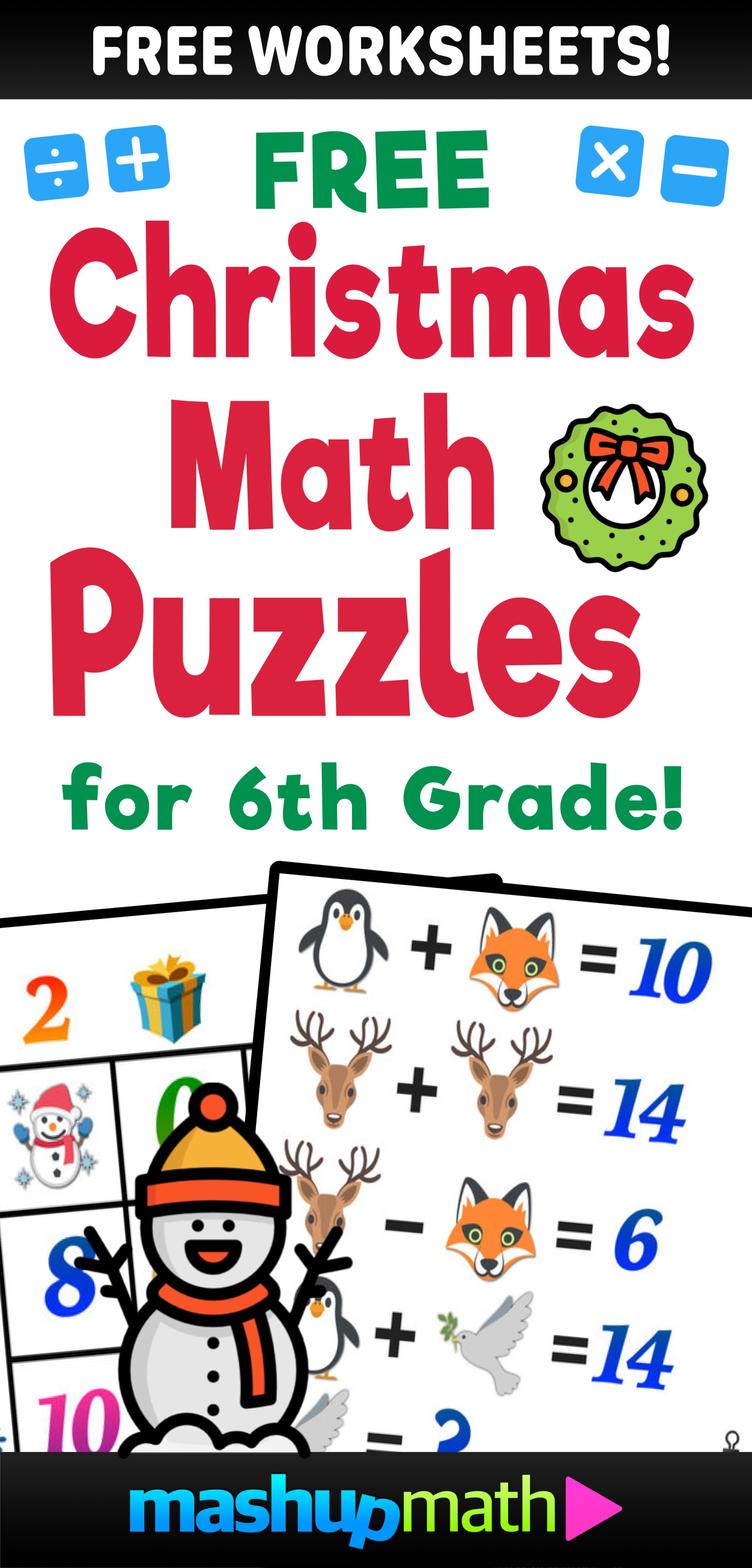 hight resolution of Are You Ready for 12 Days of Holiday Math Challenges? — Mashup Math