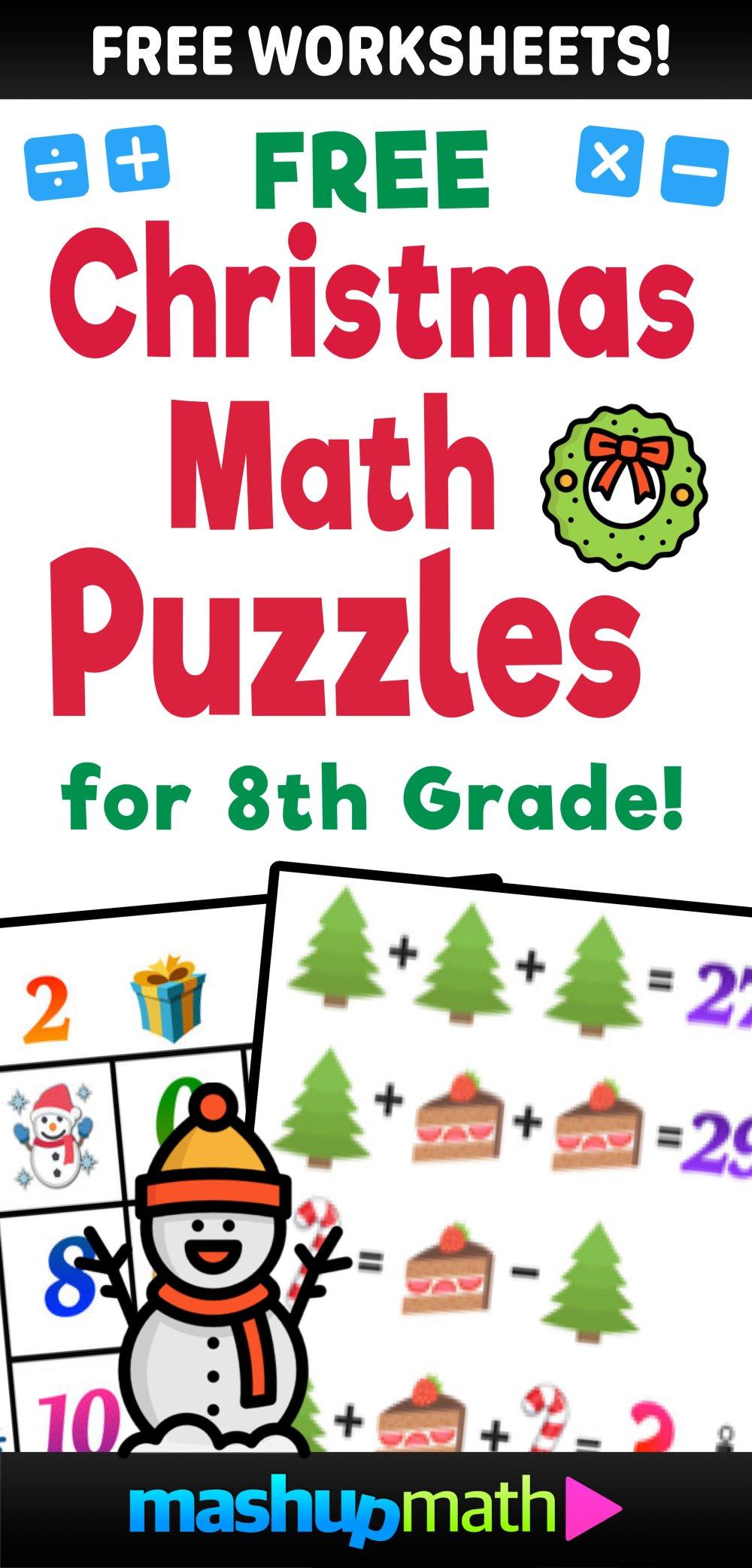 medium resolution of Christmas math worksheets — Blog — Mashup Math