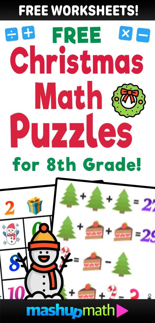 small resolution of Christmas math worksheets — Blog — Mashup Math