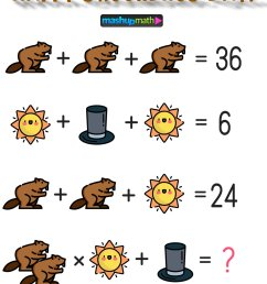 Free Groundhog Day Math Puzzle for Grades 3-8 — Mashup Math [ 1285 x 1000 Pixel ]