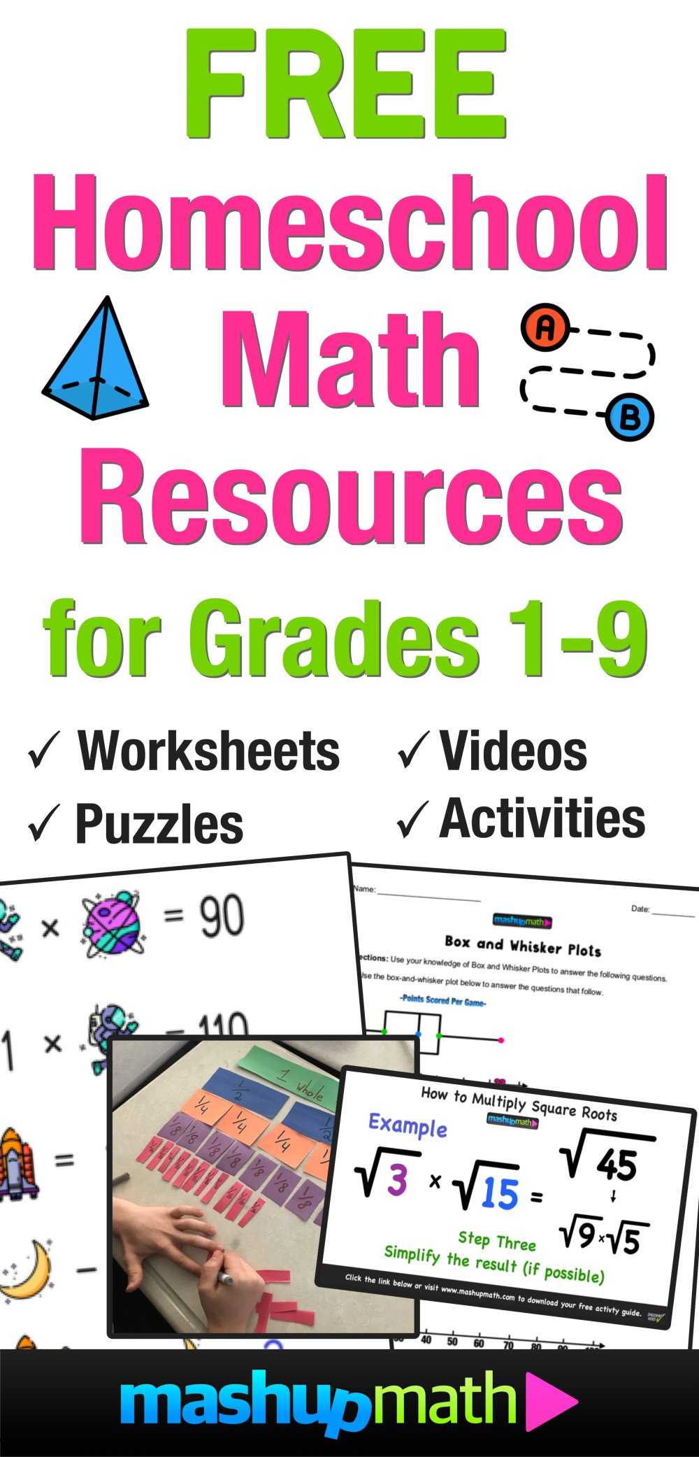 medium resolution of Free Homeschool Math Resources for COVID-19 — Mashup Math