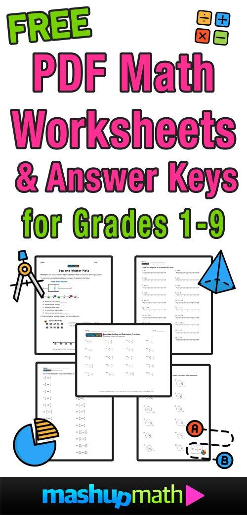 small resolution of Free Math Worksheets — Mashup Math