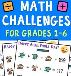 April Fools' Day Math Puzzle for Grades 1-6 — Mashup Math [ 2084 x 1000 Pixel ]