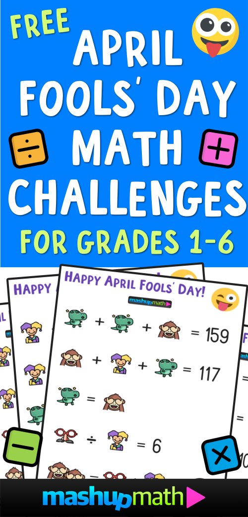 small resolution of April Fools' Day Math Puzzle for Grades 1-6 — Mashup Math