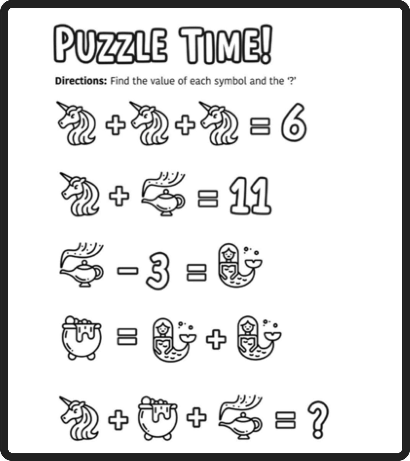 hight resolution of Free Math Puzzles — Mashup Math