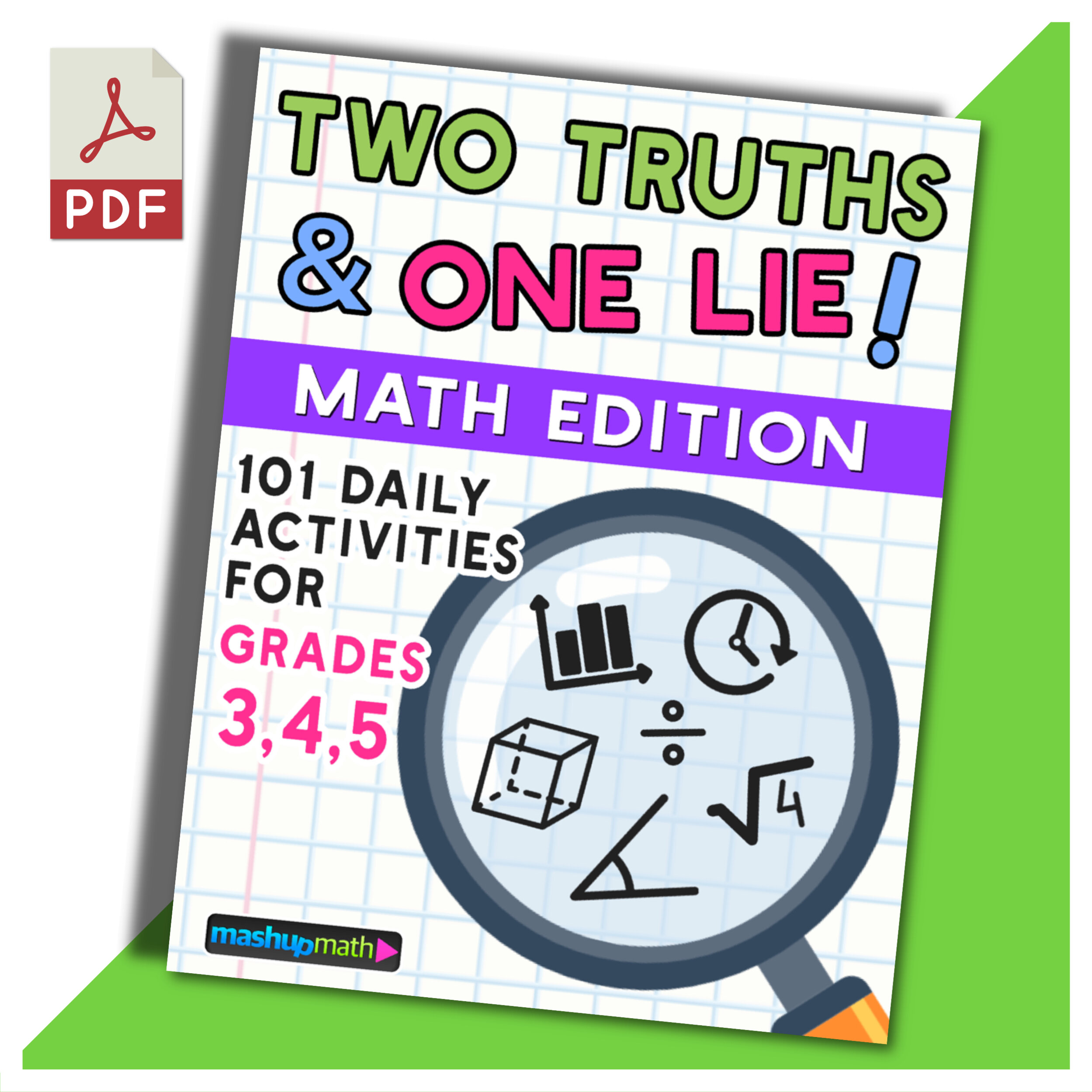 101 Two Truths and One Lie! Math Activities for Grades 6 [ 2499 x 2499 Pixel ]