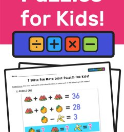 7 Super Fun Math Logic Puzzles for Kids! — Mashup Math [ 2084 x 1000 Pixel ]