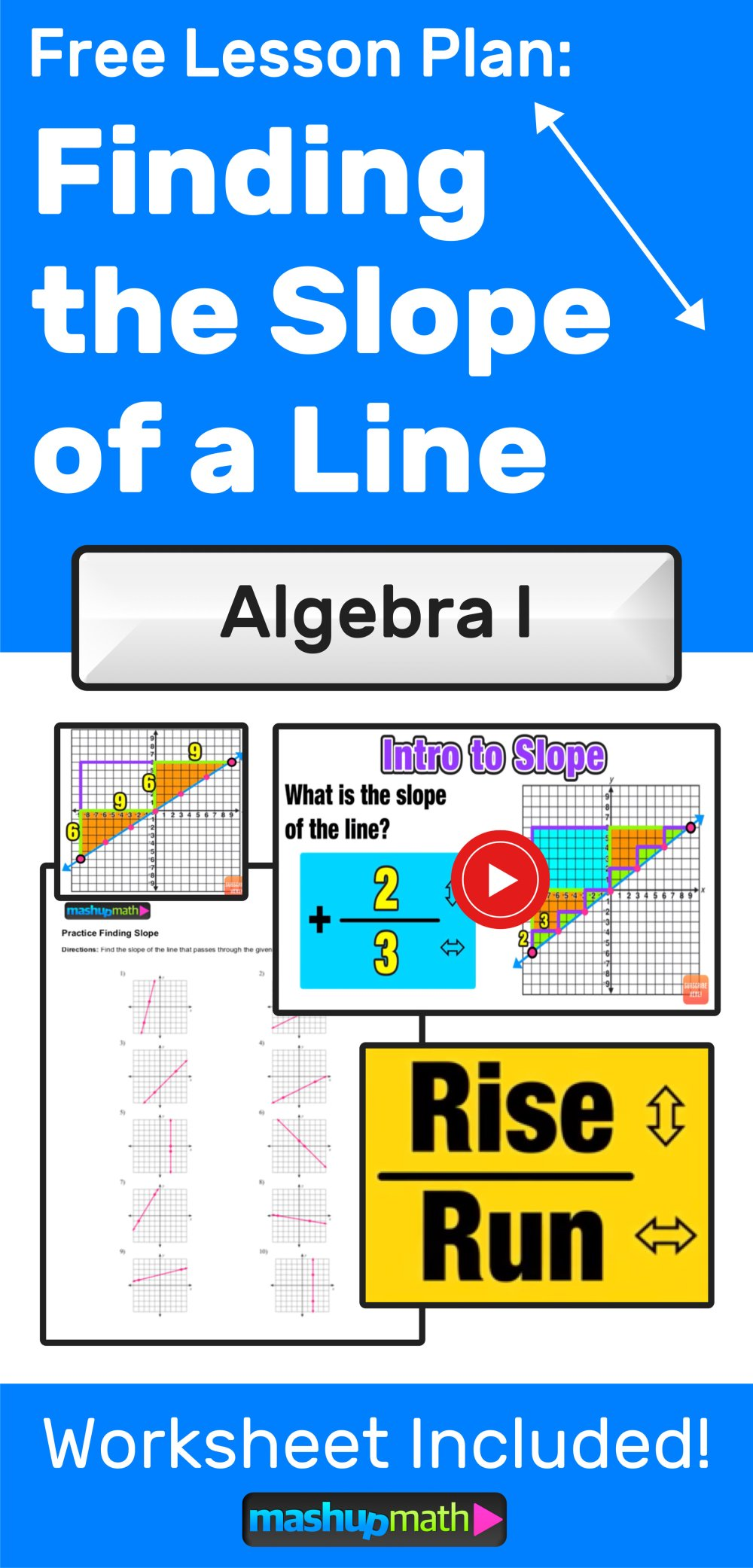 medium resolution of Finding Slope of a Line: 3 Easy Steps — Mashup Math
