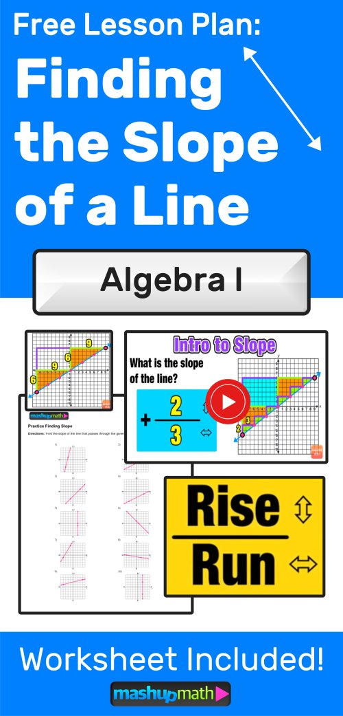 small resolution of Finding Slope of a Line: 3 Easy Steps — Mashup Math