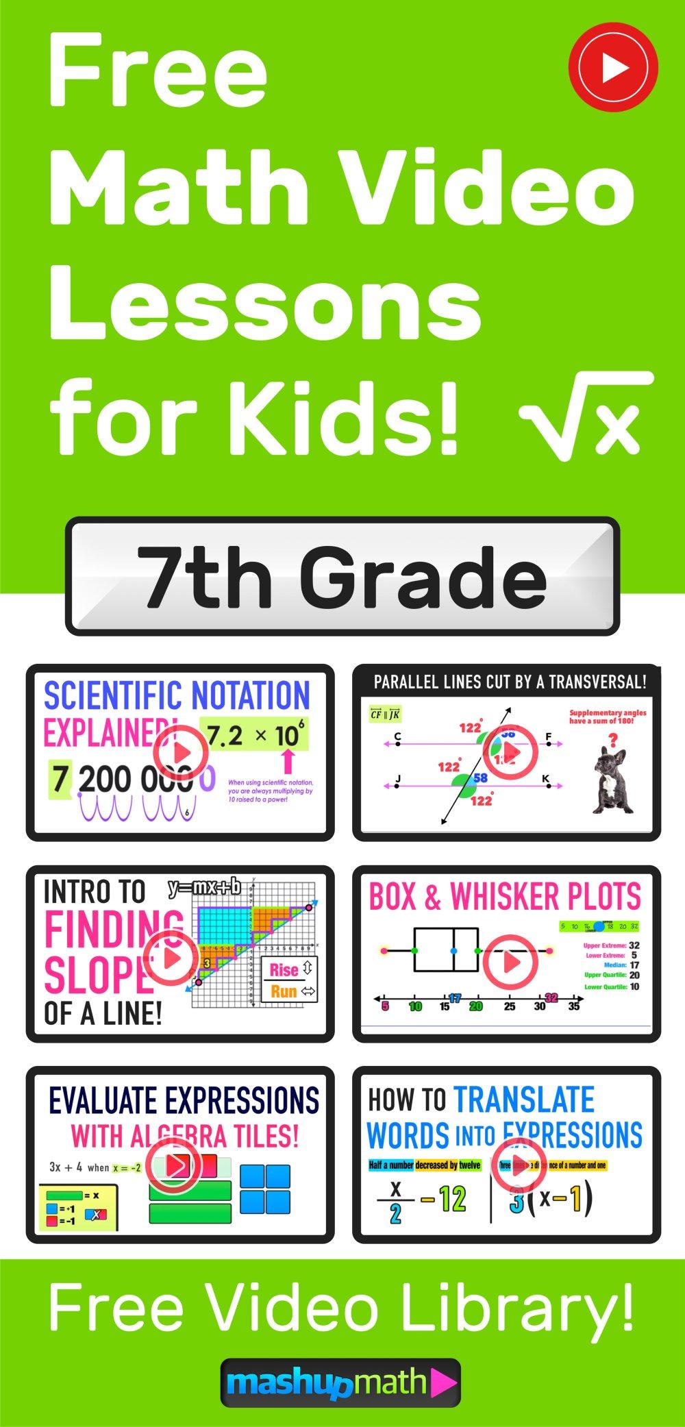 medium resolution of Grades 7-9 Videos (2020) — Mashup Math