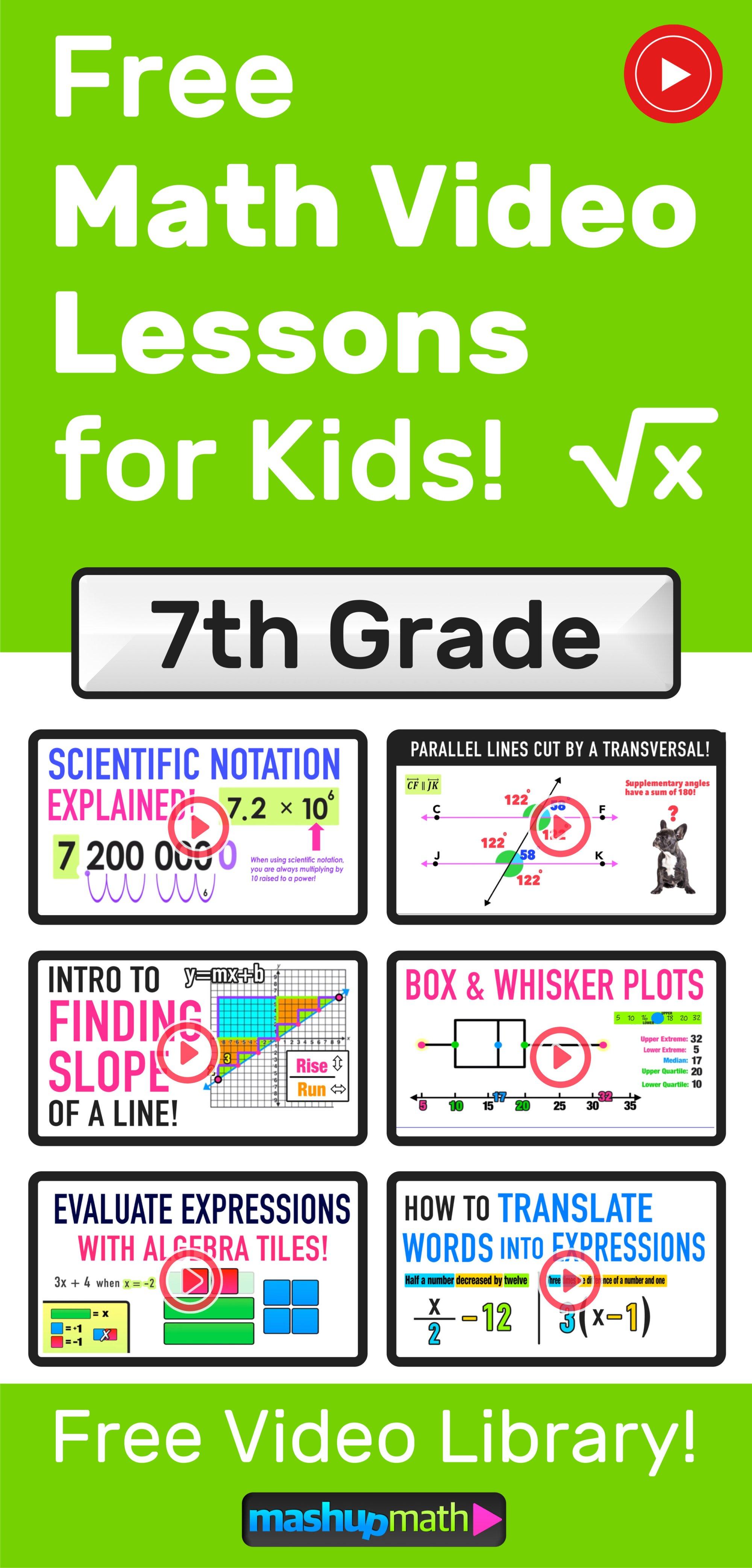 hight resolution of Grades 7-9 Videos (2020) — Mashup Math