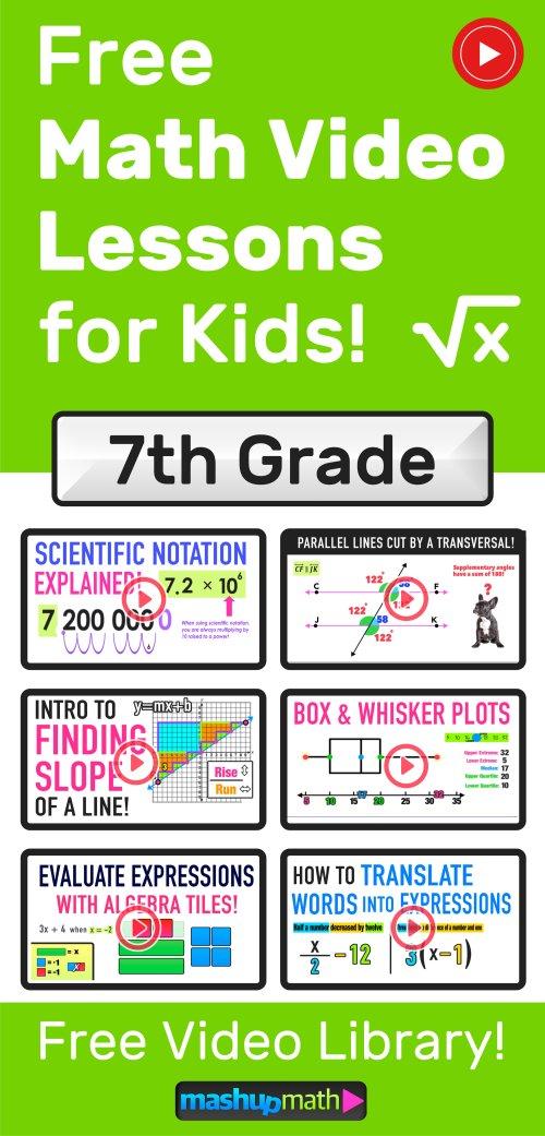 small resolution of Grades 7-9 Videos (2020) — Mashup Math