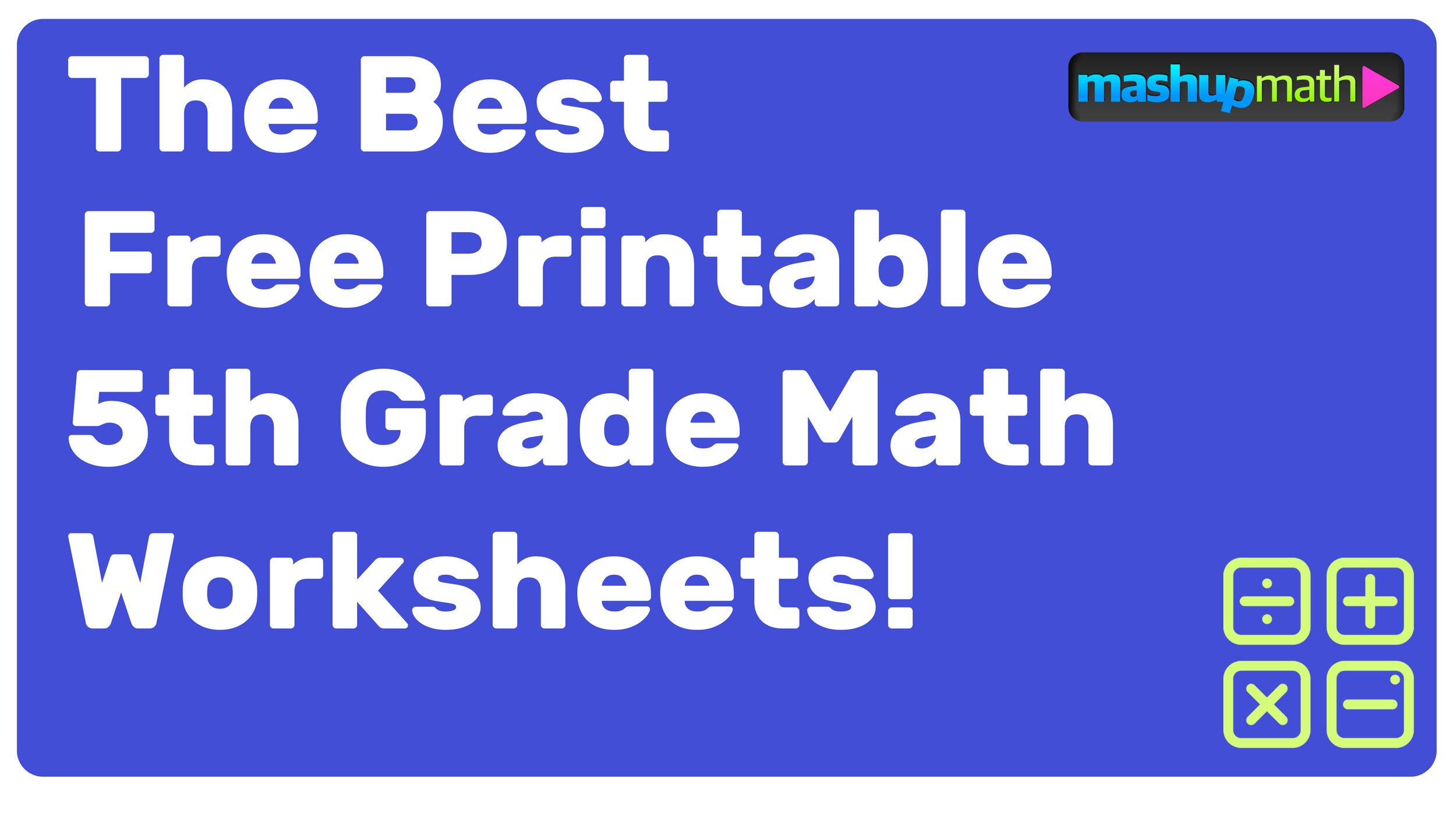 medium resolution of Free Printable 5th Grade Math Worksheets (with Answers!) — Mashup Math