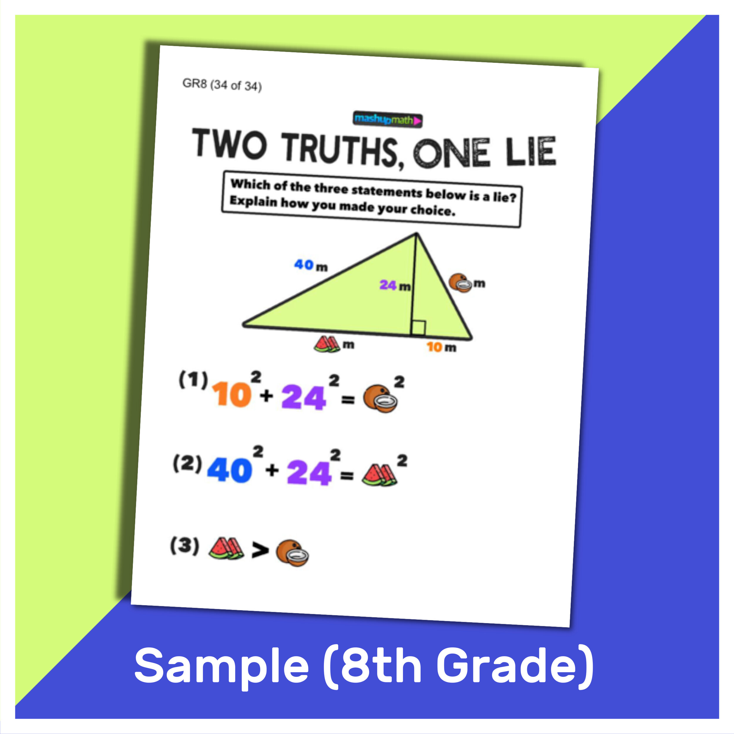 small resolution of 101 Two Truths and One Lie! Math Activities for Grades 6