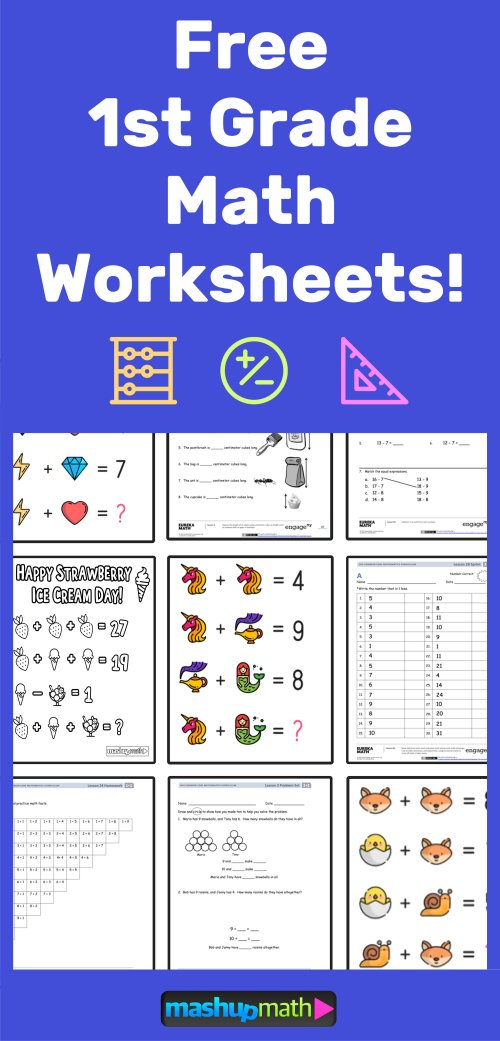 small resolution of The Best Math Worksheets for 1st Grade Students — Mashup Math