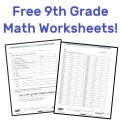 The Best Free 9th Grade Math Resources: Complete List! — Mashup Math [ 1000 x 1000 Pixel ]