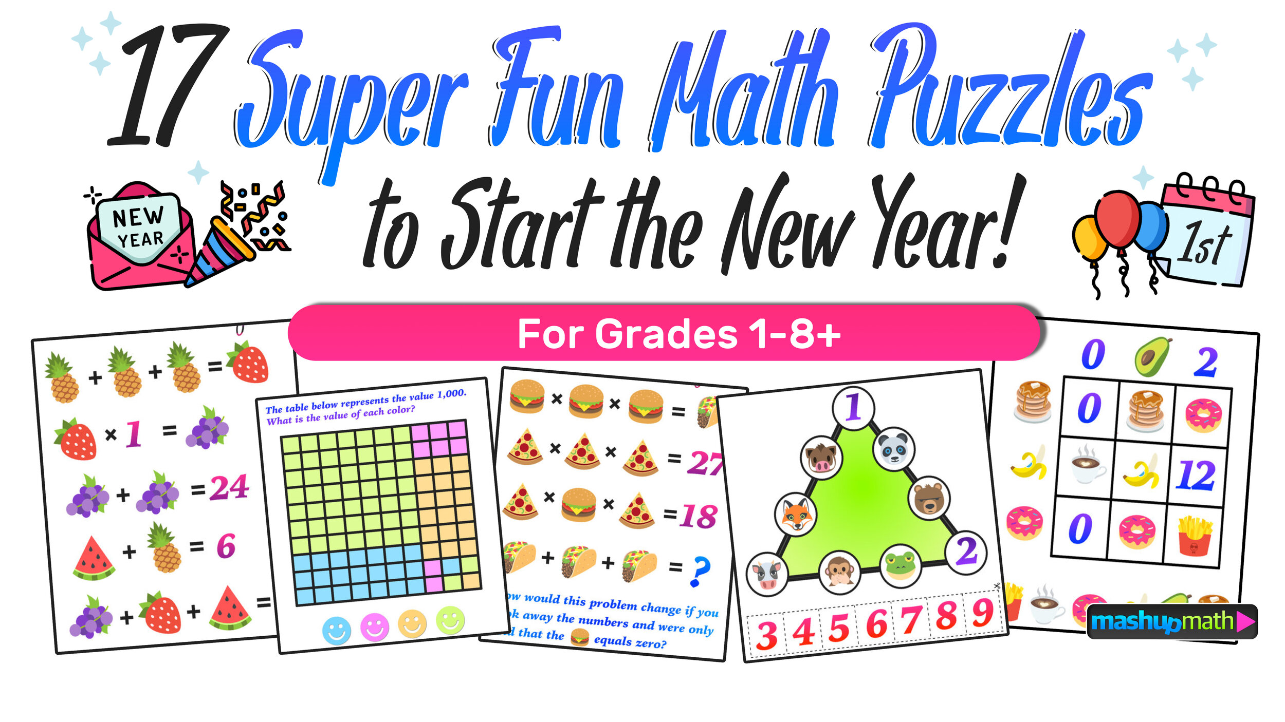 Are You Ready for 17 Awesome New Math Challenges? — Mashup Math [ 1406 x 2500 Pixel ]